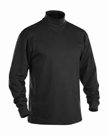 Blaklader 3320 Long Sleeve Polo Neck 100% Cotton (Black)